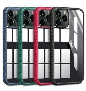 Plexiglas-harte rückseitige weiche TPU Anti-Rutsch-Stoß- Telefon-Kasten für iPhone 12 Mini 11 Pro Max XR XS 7 8 Plus SE2020