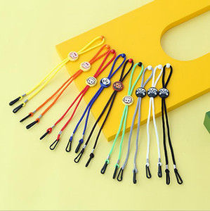 Cartoon Mask Lanyard Student Anti-slip Adjustable Braid String Extensible Handy Convenient Glasses Rope Solid Sunglasses Chain Ropes IIA694