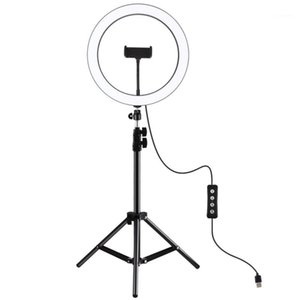 PULUZ 1.8 inch 30cm 3 Modes Dimmable LED Ring Flash Light for Youtube Vlogging Video Broadcast Live with 110cm Tripod Mount1