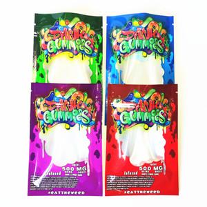 New Dank Gummies Mylar Bag Edibles Retail packaging 4 styles Smell Proof Bags Zipper Mylar Bags Dry Herb Flower Package