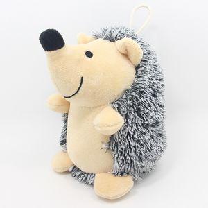 Squeak Peluş Köpek Oyuncakları Kirpi Şeklinde Intreactive Eğitim Dolması Köpek Çiğnemek Oyuncaklar Çiğnemek için oyuncaklar ve küçük evcil hayvanlar 244 n2
