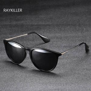 النساء جولة حزب القيادة raykiller الاستقطاب النظارات النظارات الشمسية عدسة uv400 الرجال للحالة في الهواء الطلق معكوسة مع نظارات eillr