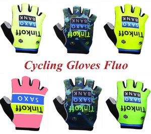 TINKOFF Half Finger Cycling Gloves Non-Slip Gel Pad Fluorescent Color MTB Road Bike Gloves Gloves Men Women Sports Bicycle Glove 201019
