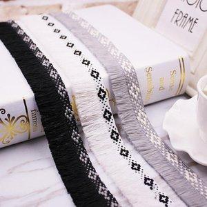 1YARDS LOT Dentelle Tassel Ruban Ruban Tassels de coton Garning Fringes Tassel Dentelle pour la couture Lit Vêtements Rideaux DIY Accessoires Décor h Jllhvs
