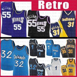 Jason 55 Williams Reggie 31 Miller Basketball Jersey Penny 1 Hardaway Tracy 1 McGrady 32 Jersey rétro