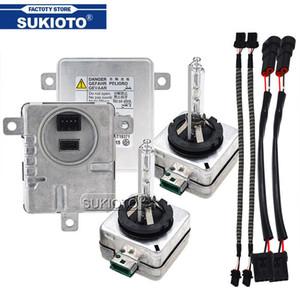 Bulb SUKIOTO Original 55W Xenon D3S HID Lastro Kit Xenon D1S 6000K 8000K 5000K 4300K D1R D3R Car Light Lamp Para A3 A6 Q7 2 Q5
