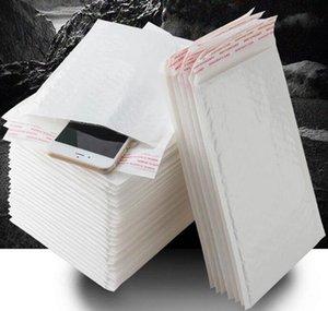 12 * 18 cm Pearl White Blanco Poly Bubble Mailer Sobre impermeable Bolsa de correo acolchada Sellado automático para BBYXZS SPORT77777