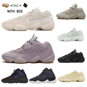 2021 Kanye West 500 Erkek Koşucu Ayakkabı Yumuşak Vizyon Taş Kemik Beyaz Yardımcı Siyah Süper Ay Sarı Enflam Erkek Kadın Açık Sneakers