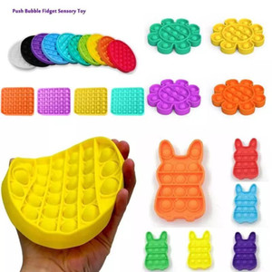 US Stock Push Bubble Fidget Toys pop it Autism Special Needs Stress Reliever Helps Relieve Stress and Increase Focus Soft Squeeze Toy