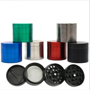 6 Color 4 Layers 40mm Metal Zinc Alloy Tobacco Grinder Dry Herb Crusher Smoking Chopper Accessories Hemp Pepper Pot Spice Mill Grinder
