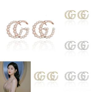 6osmT Geometric Triangle Brincos Earrings Gold Color pearl art Marble Femme For Women Pending Jewelry Stud Earring Piercing deco G letter