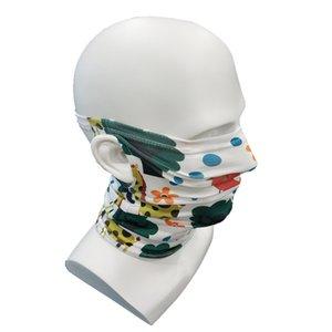 Дети, висит ушной пыль маска бесшовные ребенка ветрозащитный бандана шея волшебный шарф многоразовый спортивный мультфильм напечатанные животные лица маска GWC2856