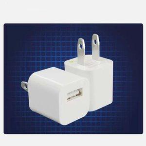 5V 1A AC Inicio Viaje Pared USB Cargador USB Enchufe Adaptador de corriente para iPhone 5 6 7 8 x Plus para Samsung White Black Black de alta calidad
