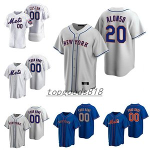 Custom Mets 20 Pete Alonso New 20 21 йоркоподъемник 48 Jerseys 48 Jacob DeMomm Darryl клубника Кит Эрнандес Дуайт Гуденден Piazza Бейсбол Джерси
