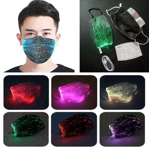 Fashion Glowing Mask With PM2.5 Filter 7 Colors Luminous LED Face Masks for Christmas Party Festival Masquerade Rave Mask EEA2076