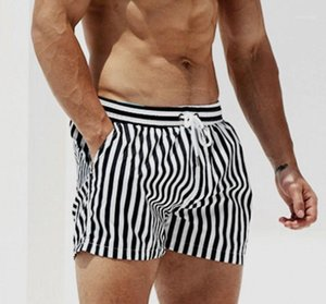 Swimming Shorts Swimsuit Beachwear Trunks Swimwear Surfing Board Striped Plus Size For Men Man Quick Dry Mens DESMIIT Beach1