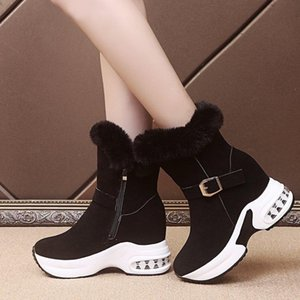 Wertzk nuovo vento universitario ad alta intenzione di scarpe vecchie scarpe da donna scarpe corte stivali corti lateria zipper tacco alto stivali moda donna cotone