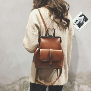 LEFTSIDE Brand Retro HASP Back Pack PU Leder Rucksack Frauen Schultaschen für Jugendliche Mädchen Luxus Kleine Rucksäcke