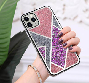 New Diamond Glitter Case Soft TPU Shinny Bling Case para iPhone 12 12pro MAX para S21 S30 Caja de diseño