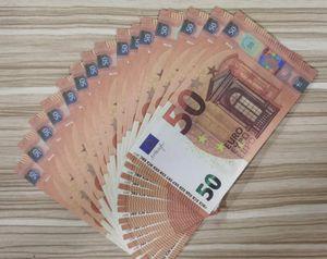 Simulação Euro Cédulas Prop Money, Dinheiro Realista, Diy Crianças Adereços Jogo Coin, 50 euros Bar Bar Bar Money555