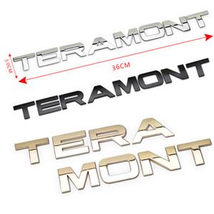 3D Metal Chrome Letters Emblem Badge Car Hood Rear Trunk Logo Sticker For Volkswagen VW Teramont Accessories