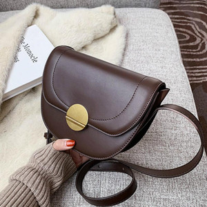 حقائب جلدية بو الجلود للنساء 2020 أزياء صغيرة الصلبة الألوان حقيبة الكتف حقائب اليد الإناث والمحافظ كيس مي رئيسي