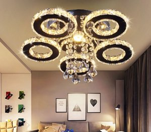 Modern Ceiling Lamps LED 5 Ring Crystal Circle Ring Ceiling Lamp Led chandelier lamps Bedroom Light Aisle Light Corridor Light