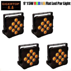 LED vendite calde piatto Par 9x15W Illuminazione LED Par Strobe DMX partito Light Controller DJ Disco Bar Strobe proiettore Effetto Dimming