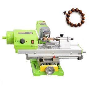 LY 3309 Mini Holzdrehmaschine DIY Holzbearbeitung Miniatur-Buddha Perle Lathe Schleifen Polieren Perlen Holzbohrer Drehwerkzeug