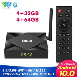 Tanix TX6S Android 10.0 OTT TV Boxes 4GB+32GB 64GB Allwinner H616 Dual WiFi 2.4G+5G With BT Smart TV Box