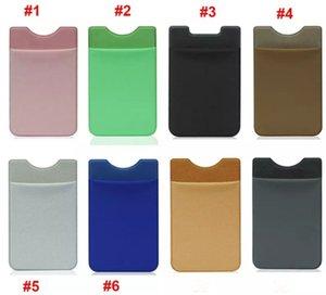 Douce Sock portefeuille de cartes de crédit de trésorerie de poche autocollant Lycra adhésif Porte argent poche téléphone portable 3M Gadget iphone Samsung LLFA
