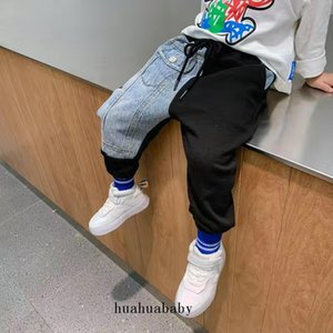 Cotton Pants Solid Boys Sport Pants Kid Children Girls Trousers Casual Jogging Trouser Kids 2 Colors Optional Loose Trouser