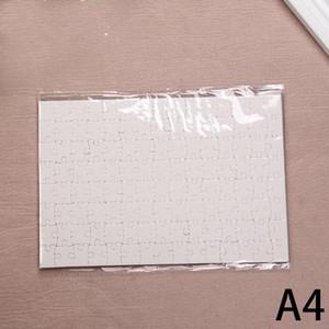 DIY Sublimation Blank Blank Jigsaw Transfer Blank Puzzle A4 multi-standard giocattoli in legno per bambini logo personalizzazione carta puzzle A07