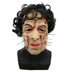 Hanzi_masks HOT!! Sale Men Latex Mask Horror Mask Creepy Costume Party Cosplay Props Scary Mask for Halloween Terror