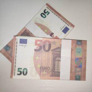 Завод прямые продажи 50 евро фальшивых банкнот, игрушек, фильмы и телевизионные съемочного реквизит, 100 игровых токенов