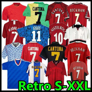 97 98 Ретро United Soccer Jersey 2002 футбол Man Giggs Scholes Beckham Ronaldo Cantona Solskjaer Manchester 94 96 99 86 88 1990 06 07 08