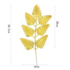 Simulación hoja oro plateado boda celebración planta resistencia a la tortuga de otoño dorsal hojas popular venta pozo 1 7yy j1