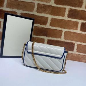 Vente chaude 574969 Fashion Sac à bandoulière en cuir véritable Diamant Lattice Lattice matelassée sac à rabat à rabat à huile de cire 16.5cm mini taille
