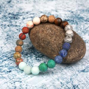 Universe Premium Space Planets Solar System Natural Stone Beads Bracelet Bangle Chakra Yoga Bracelet Dropship Jewelry wholesale