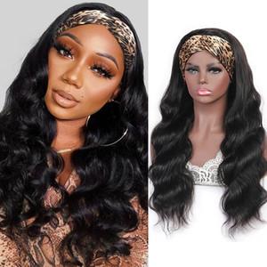 Meetu longueur longue perruque 28 30 pouces de cheveux humains avec bandeau d'eau droite lâche profonde non nulle bandeau de dentelle perruques pour femmes tous âges couleur naturelle