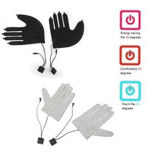 Five-finger glove heater DC 7.4V power supply with three-speed temperature switch heater glove