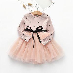 Bibicola primavera bebê meninas infantis gilr thicnk vestido quente roupas inverno menina aniversário criança festa q1223