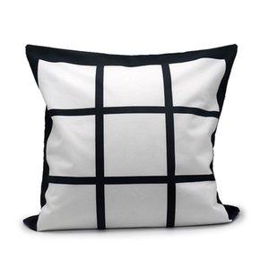 40 * 40CM sublimazione Federa 9 griglia di trasferimento di calore di stampa federe spazio in bianco DIY di sublimazione cuscino ammortizzatore YYA530