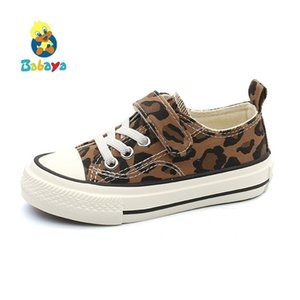 Babaya Children for Girls Sneakers Spring New Fashion Kids Canvas Boys Autumn Student Casual Leopard Shoes 201224
