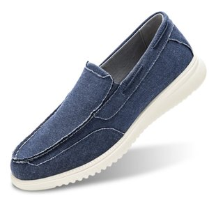 Men's Boat Shoes Slip On-Smart Casual Work Loafer Stylish Moc Toe Walking Driving Shoes