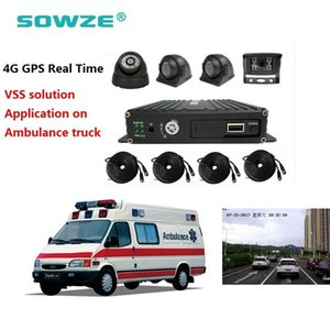 Çöp Kamyonu Güvenlik Filo Yönetimi 4CH 4G GPS Takip MDVR SD Kart Mobil DVR Setleri