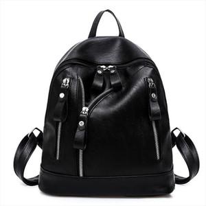 New Korean Style Ladies Women Backpack Fashion Female Girls Wateproof Rucksack Casual PU Leather Teenager Girl School Bags Gift