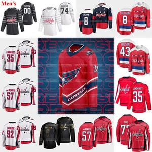 35 Henrik Lundqvist Washington Capitals 2021 Third Jersey 8 Alexander Ovechkin John Carlson Van Riemsdyk T.J. Oshie Kuznetsov Tom Wilson.