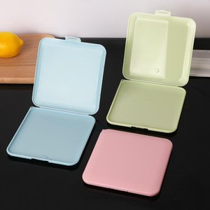 New Color Dustproof and Waterproof Flip-top Mask Clip Portable Makeup Remover Cotton Storage Storage Box Factory Direct Sales
