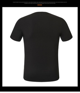 free delivery! New fashion round neck casual short-sleeved T-shirt tops men's straight cotton T-shirt street style short-sleeved skull